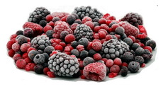 заморозка ягод, вишни, малины, ежевики